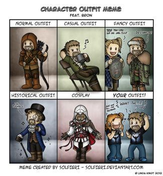 Character Outfit Meme: Bron by Isriana