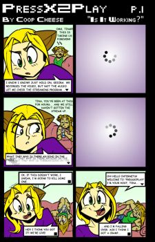 PressX2Play p1 Is it Working? by starvingartistcomics