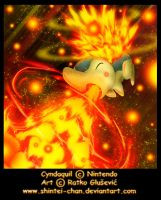 Cyndaquil ultimate flames by Shintei-chan