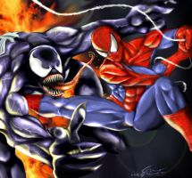 Spider-Man vs Venom by jpzilla