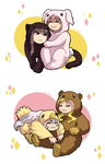 Cuddly furry whiskerfaces by ErinPtah