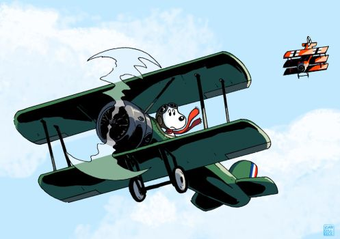 Snoopy, the Ace Pilot by MegaRyan104