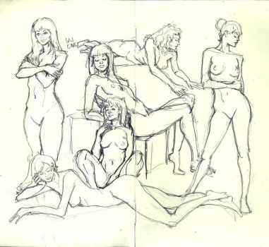 Today's girls sketches by iam2slow