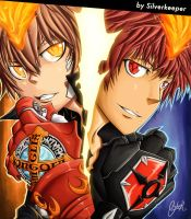 Tsuna and Enma Best Friends by silverkeeper01