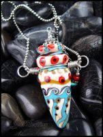Coyote Canyons - Lampwork Glass Bottle Pendant by andromeda