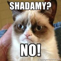 Grumpy Cats opinion of shadamy by creamxtails34