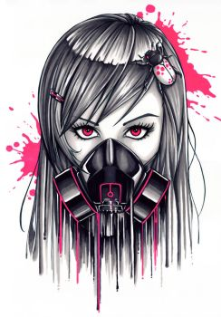 Gas Mask Girl by Bomu