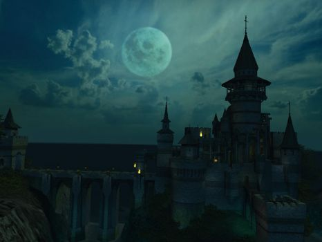 Fantasy castle background 12 by indigodeep