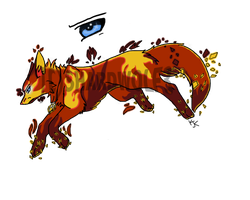 Fire Shard Wolf Adopt (CLOSED) by ShardWolf3
