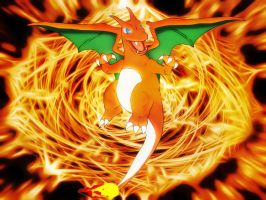 charizard wallpaper by Elsdrake