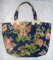 Classic Rose Tote Bag by Ange-Gothique
