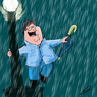 Peter Griffin - Singin' in the Rain. by hiddlesfiddled
