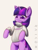 Open chest turtleneck sweater Twilight by Raikoh-illust