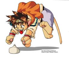 Saiyuki Neko: Son Goku by modesty