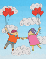 Floating Off CC Valentine Card by moopf