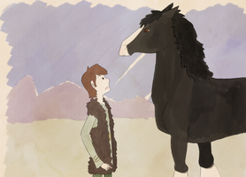 First meeting - Hiccup and Angus by OnceISawACow
