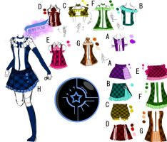 Starlights idol outfit by Harunomizuhime