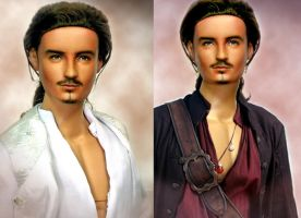 Doll Repainted as Will Turner by noeling