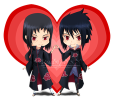 Chibi Love - Itachi and Sasuke by Jenova87