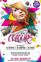 Psychedelic Night Party Flyer Template by koza30