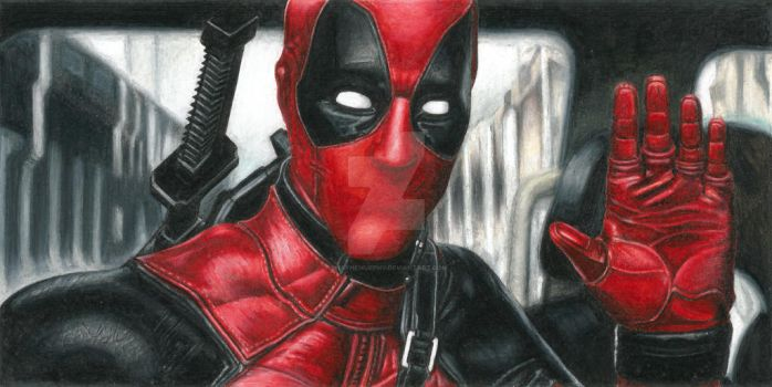 Deadpool Prismacolour Pencil by ShayneMurphy