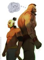 El Fuerte and Zangief by jaimito