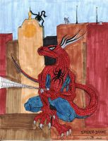 SpiderDrake in Colour by Zhon