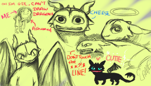 Toothless Doodles 1 by LizleMouton