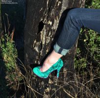 Heels and Nature -Light Blue by TheSplitGemini