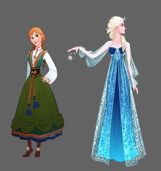 Frozen - Anna and Elsa Dress Designs by LauraHollingsworth