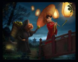 Chinese Night by clementmeriguet