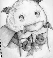 Poro Black/White Sketch by Wow-really-just-wow
