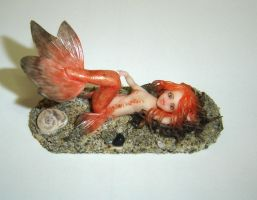 Goldfish mermaid - Red by Fairiesworkshop