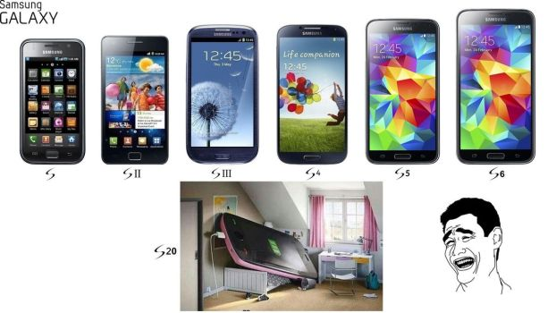 Samsung Galaxy S size evolution by mark0731