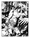 Conan in the courtyard inks by deankotz