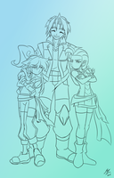Friends and rivals (unfinished) by mauroz
