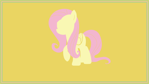 Minimal Fluttershy Wallpaper by imjoshdean