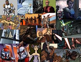 Clone Wars Collage wallpaper by LadyIlona1984