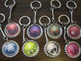 keychains are back in stock! by Rei2jewels