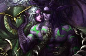 Illidan and Maiev by houdao920