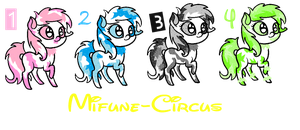 Pony Adopt Batch (2/4 OPEN) 5 Points Each! by Mifune-circus