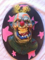 yellow hair clown plaque by UglyBabyEater