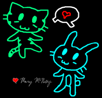 Neon Animals by MoMo2