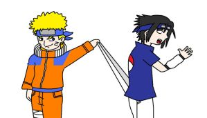 Naruto Wedgies Sasuke by Animekid0839