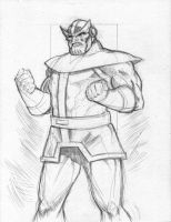 Thanos 2 pencils by wildcats25
