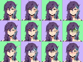 Expressions Sheet Sample 1 by MzzAzn