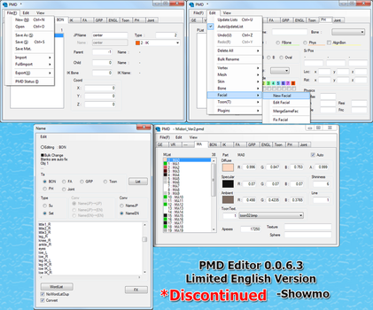 Limited English PMD Editor by Showmo456