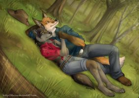 In forest - commission by Alassa