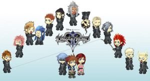 Chibi Kingdom hearts by Loreen