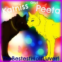 Katniss and Peeta Foreva. Wolves by thebestestwolfluver